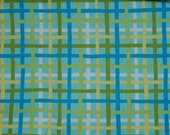 Fabric High Chair-Green, Yellow, Blue Plaid