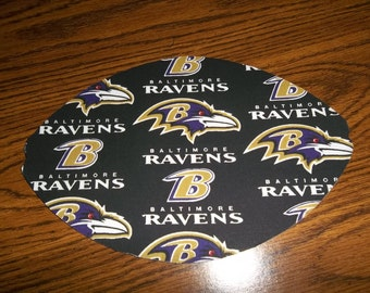 Mouse Pad NFL Baltimore Ravens Football Shaped Mat