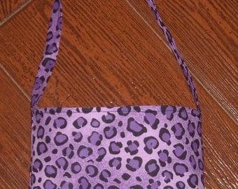 Purple Cheetah toddler purse