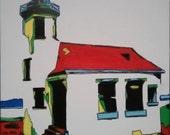 Original Abstract Lighthouse