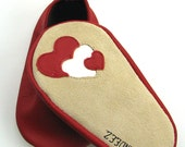 Red Baby Heart Leather Moks