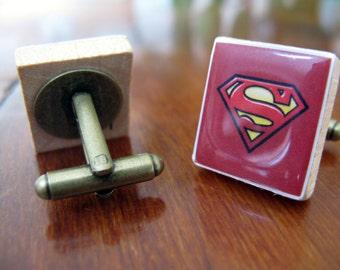 Scrabble Tile Cufflinks Superman