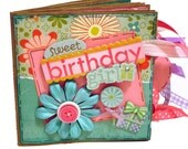 Happy Birthday Scrapbook - Sweet Birthday Girl - Birthday Photo Album