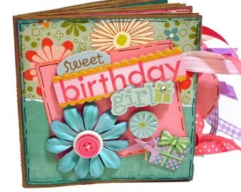 Happy Birthday Scrapbook - Sweet Birthday Girl - Mini Birthday Photo Album