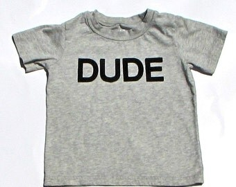 DUDE...Felt Or Fabric Iron On Applique Letters