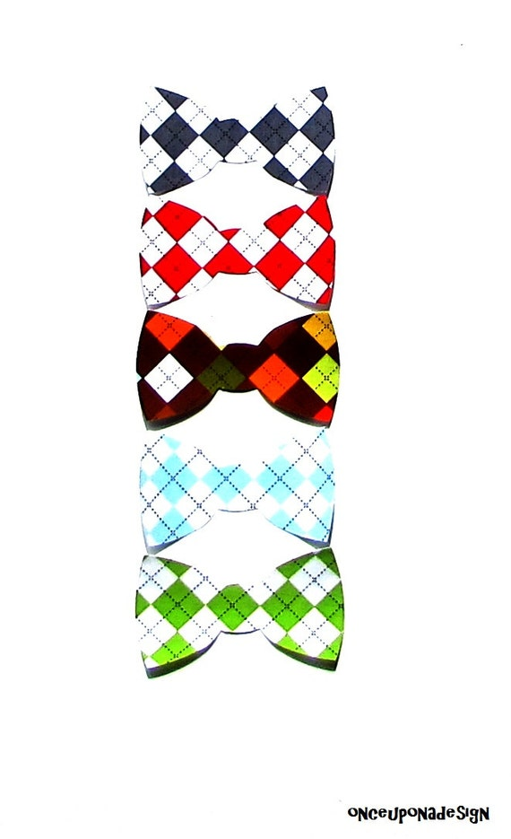 items similar to argyle bow tie collection fabric iron on appliques choose from five. Black Bedroom Furniture Sets. Home Design Ideas