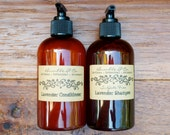 Sulfate-Free Shampoo + Conditioner Set  | Lavender | Gentle, Natural, Botanical + Organic Ingredients | 8 oz each