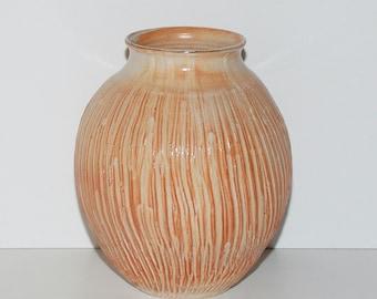 Japanese Studio Mingei Pottery Shino Glaze Signed Vase