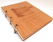 Wooden Wedding Guest Book Photo Album - LARGE SIZE - Vintage Camera Design