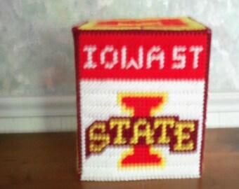 IOWA STATE Tissue Box Cover