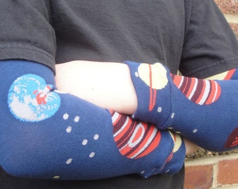 Leg Warmers for Kids 'n Babies - Arm Warmers/Leggings for Infant, Toddler, and Tween - Gift for Boy or Girl - Cool Space and Planet Design