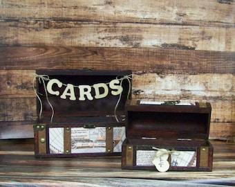 Wedding Card Box, Card Box, Advice Box, Travel Theme Wedding, Destination Wedding