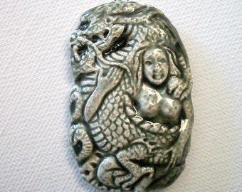 Ceramic Dragon Goddess Pendant