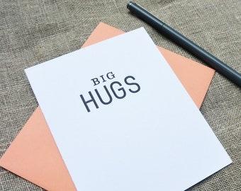 Letterpress Greeting Card  - Stuff My Friends Say - Big Hugs