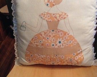 SALE SOUTHERN Belle Vintage Applique Pillow