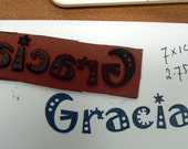Gracias, Cling mounted rubber stamp