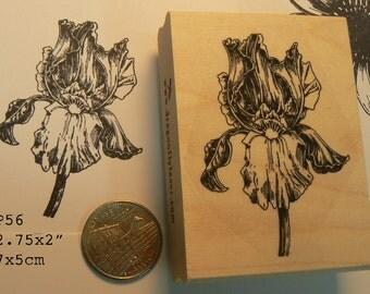 P56 Iris flower rubber stamp