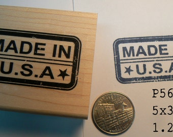 P56 Made in the US rubber stamp