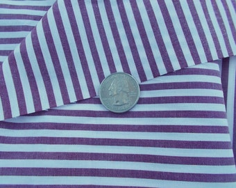 Vintage Oxford Stripe Cotton Fabric  2 lengths 64 wide by 63 and 64 by 80 inches approx 4 YARDS