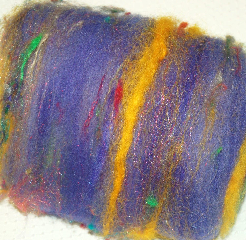 Spinning fiber batt alpaca fiber merino kid by lateadadesigns for Fiber batt
