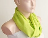 SALE-Light Green scarf, Infinity Scarf. Loop Scarf ..Cotton... Green Scarf