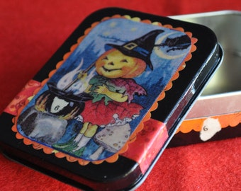 Altered Altoid Tin -- Halloween -- Pumkinhead Box No. 6