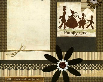 Family Time - 12x12 Premade Scrapbook Page