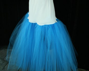 Fishtail petticoat mermaid turquoise wedding underskirt puff trumpet bride bridal formal dance -- You choose size -- Sisters of the Moon