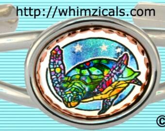 Sea Turtle Bracelet with Stars