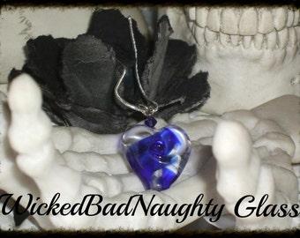 WBN Cobalt Blue Heart of Glass
