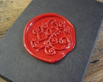 Self adhesive wax seals - LOVE