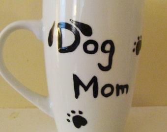 Dog Mom Mug Hand Painted