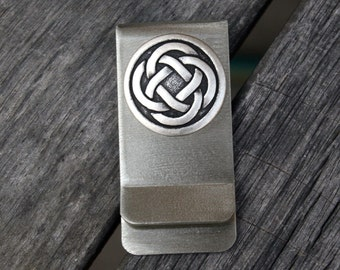 Money / Card Clip - Celtic Knot, Large