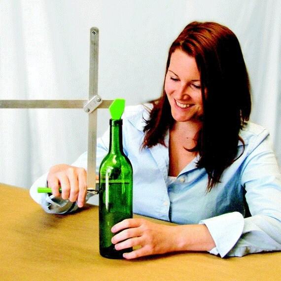 Glass bottle cutter generation green g2 cuts wine and beer for Generation green bottle cutter