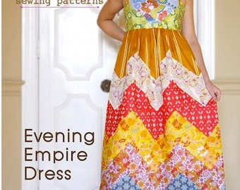 Evening Empire Dress Sewing Pattern
