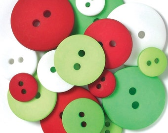 Doodlebug Button Assortment 24/Pkg - Christmas