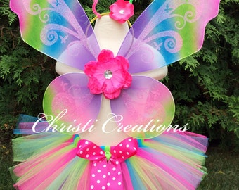 Girl Halloween Costume - Butterfly Costume - 2T Thru 10 - Tutu, Antenna and Wings - Girl Costumes