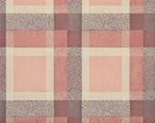 1950's Vintage Wallpaper - Plaid Vintage Wallpaper of Pink Brown and Cream
