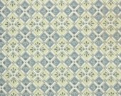 1930's Vintage Wallpaper - Yellow and Gray Geometric Square Tiles