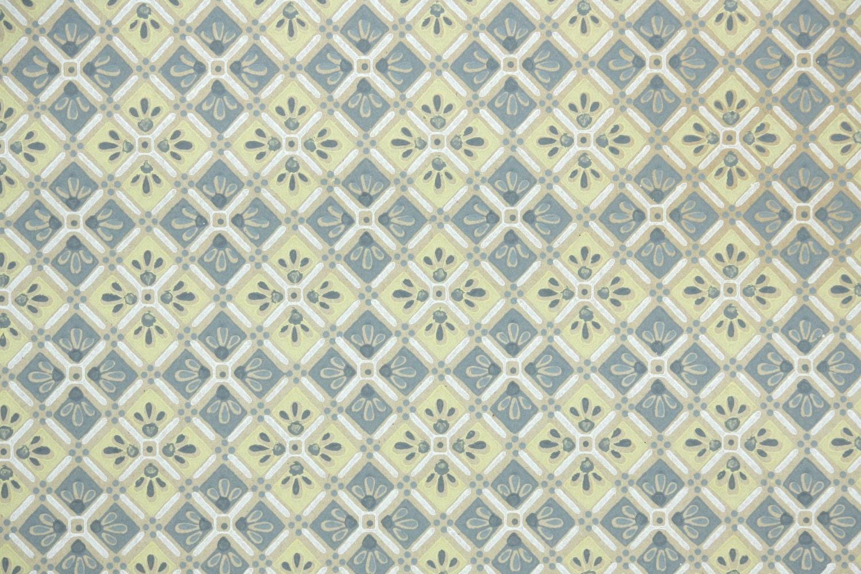 1930er jahre vintage tapete gelb und grau geometrische for Vintage tapete grau