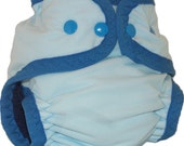 SALE!! Small Zorbeez AIO Icicle Blues Cloth Diaper SALE