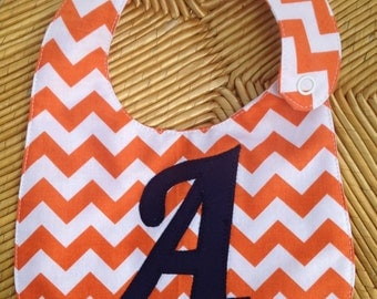 Personalized Chevron Baby Bib