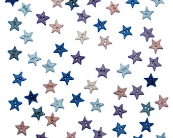 Mini Star Buttons