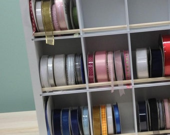 Ribbon Spool Craft Organizer no dowels easy to use