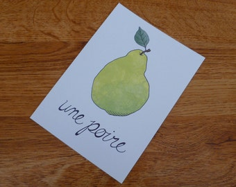 Une Poire (A Pear) - Unframed 4x6 Archival Digital Print