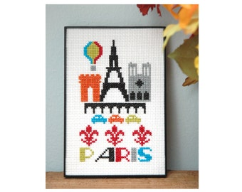 Paris Cross Stitch Pattern Instant Download