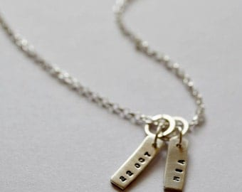 Personalised Silver Tag Necklace