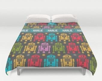 Star Wars Duvet Cover, Customized duvet cover, R2D2 bedding, Personalized duvet cover, Star wars bedding, toddler bedding