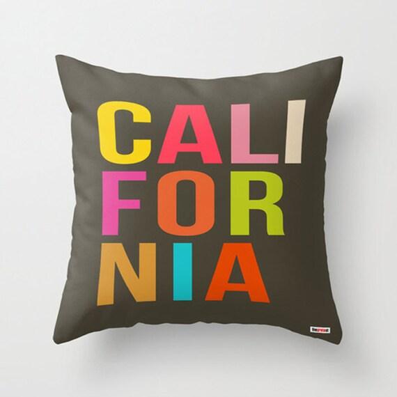 Decorative Pillow Modern : California Decorative throw pillow cover Modern pillow