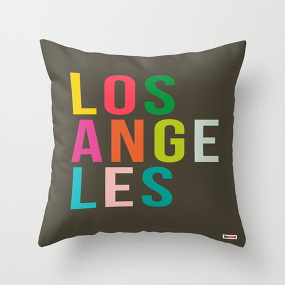 Modern Pillow Cover Design : Los Angeles Decorative throw pillow cover Modern pillow